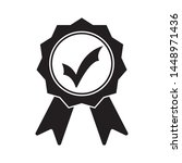 black icon approved or... | Shutterstock .eps vector #1448971436