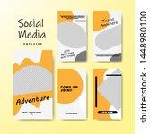 set of banner for social media... | Shutterstock .eps vector #1448980100
