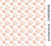 Seamless Peach Floral Pattern