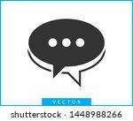 talk bubble speech icon. blank... | Shutterstock .eps vector #1448988266