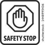 safety stop  hand blocking ... | Shutterstock .eps vector #1448995436
