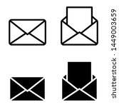 mail linear icons  open and... | Shutterstock .eps vector #1449003659
