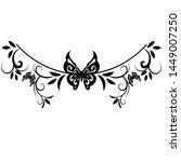 beautiful butterfly pattern... | Shutterstock .eps vector #1449007250