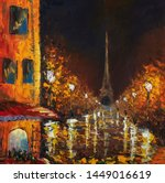Impressionism Eiffel Tower Oil...