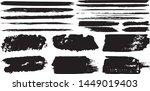 set of vector grunge brushes in ...   Shutterstock .eps vector #1449019403