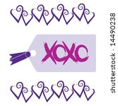 love and kisses tag graphic... | Shutterstock . vector #14490238