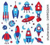 Постер, плакат: funny rockets