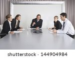 group of business people on...   Shutterstock . vector #144904984
