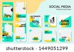 social media pack template for... | Shutterstock .eps vector #1449051299