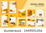 social media pack template for... | Shutterstock .eps vector #1449051356