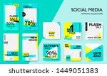 social media pack template for... | Shutterstock .eps vector #1449051383
