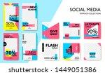 social media pack template for... | Shutterstock .eps vector #1449051386