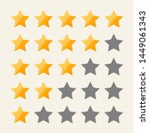 star rating symbols with 5 star.... | Shutterstock .eps vector #1449061343