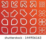 set of abstract design elements.... | Shutterstock .eps vector #144906163