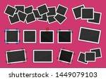 polaroid photo frames big pack. ... | Shutterstock .eps vector #1449079103