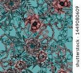 watercolor seamless pattern...   Shutterstock . vector #1449080609