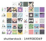 big set with beautiful... | Shutterstock .eps vector #1449083069