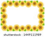 Sunflower Frame Illustration...