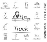 truck hand draw icon. element...