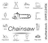 chainsaw hand draw icon....