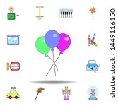 cartoon balloons toy colored...