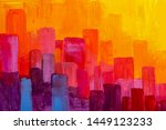 Colorful Panorama City Abstrac...