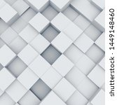 abstract white 3d cubes...   Shutterstock . vector #1449148460