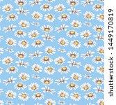 watercolor seamless pattern... | Shutterstock . vector #1449170819