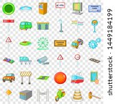 city geography icons set....   Shutterstock . vector #1449184199