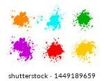 black ink splashes. grunge... | Shutterstock .eps vector #1449189659