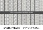 vector set ornamental seamless... | Shutterstock .eps vector #1449195353