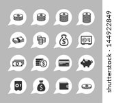 money icons for site | Shutterstock .eps vector #144922849