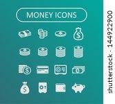 money icons | Shutterstock .eps vector #144922900