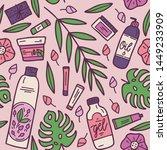 organic cosmetics seamless... | Shutterstock .eps vector #1449233909