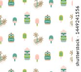 hawaii seamless vector pattern. ... | Shutterstock .eps vector #1449241556