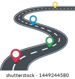 road with markers. vector... | Shutterstock .eps vector #1449244580