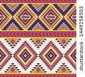 tribal striped seamless pattern....   Shutterstock .eps vector #1449258503