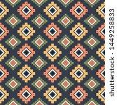tribal striped seamless pattern....   Shutterstock .eps vector #1449258833