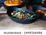 potatoes gratin  and green beans