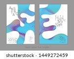 set of abstract universal flyer ... | Shutterstock .eps vector #1449272459
