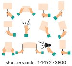 protesters banners. concept of... | Shutterstock .eps vector #1449273800