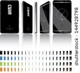 smart phone 3d rotation   21... | Shutterstock .eps vector #144928798