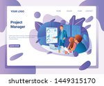 project manager illustration... | Shutterstock .eps vector #1449315170