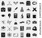 education icons set. simple... | Shutterstock . vector #1449316613