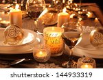holiday setting and decorations ... | Shutterstock . vector #144933319