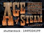 vector font  a rustic alphabet... | Shutterstock .eps vector #1449334199