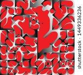 red liquid geometric background ...   Shutterstock .eps vector #1449336236