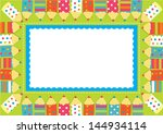frame of colorful funny pencils | Shutterstock .eps vector #144934114