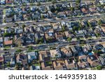 aerial view of older houses and ... | Shutterstock . vector #1449359183