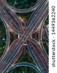 aerial view of highway and... | Shutterstock . vector #1449362240